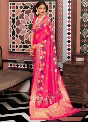 Intrinsic Pink Festival Designer Saree
