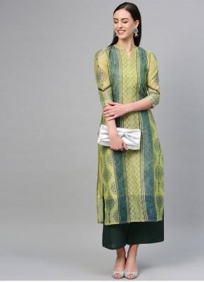 Invigorating Printed Cotton Casual Kurti