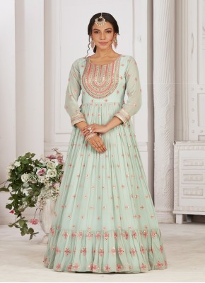 Ironically  Chiffon Party Wear Designer Gown