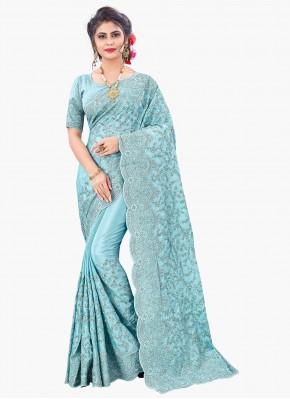 Irresistible Faux Chiffon Resham Designer Saree