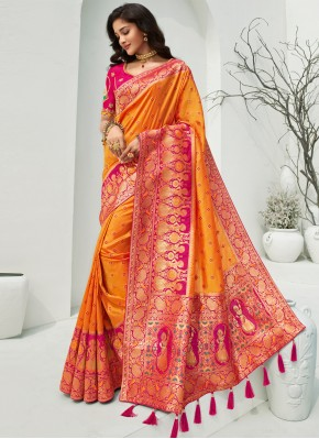 Jazzy Banarasi Silk Designer Traditional Saree