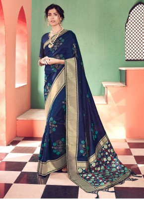 Jazzy Banarasi Silk Woven Traditional Saree