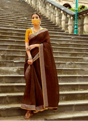 Jazzy Classic Saree in Brown