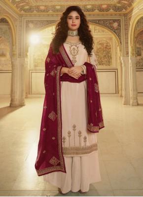 Kritika Kamra Cream Festival Designer Palazzo Suit