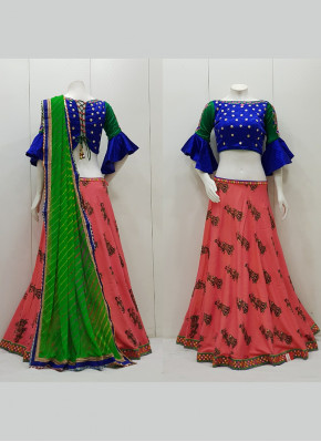 Kutchhi Work Border Cotton Lawn Readymade Lehenga Choli