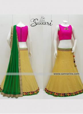 Lace Cotton  Readymade Lehenga Choli