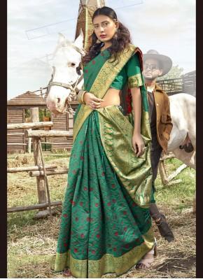 Latest Banarasi Silk Ceremonial Traditional Saree