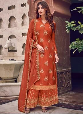Latest Brown Woven Trendy Salwar Suit
