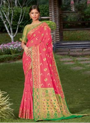 Latest Woven Ceremonial Traditional Designer Saree
