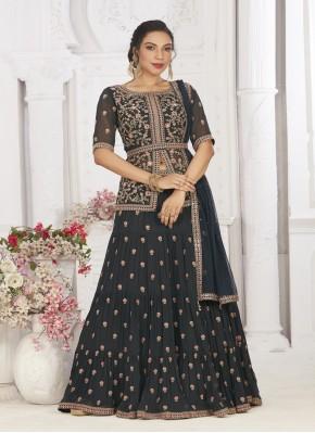 Lavish Chiffon Ready Made Long Choli Suit