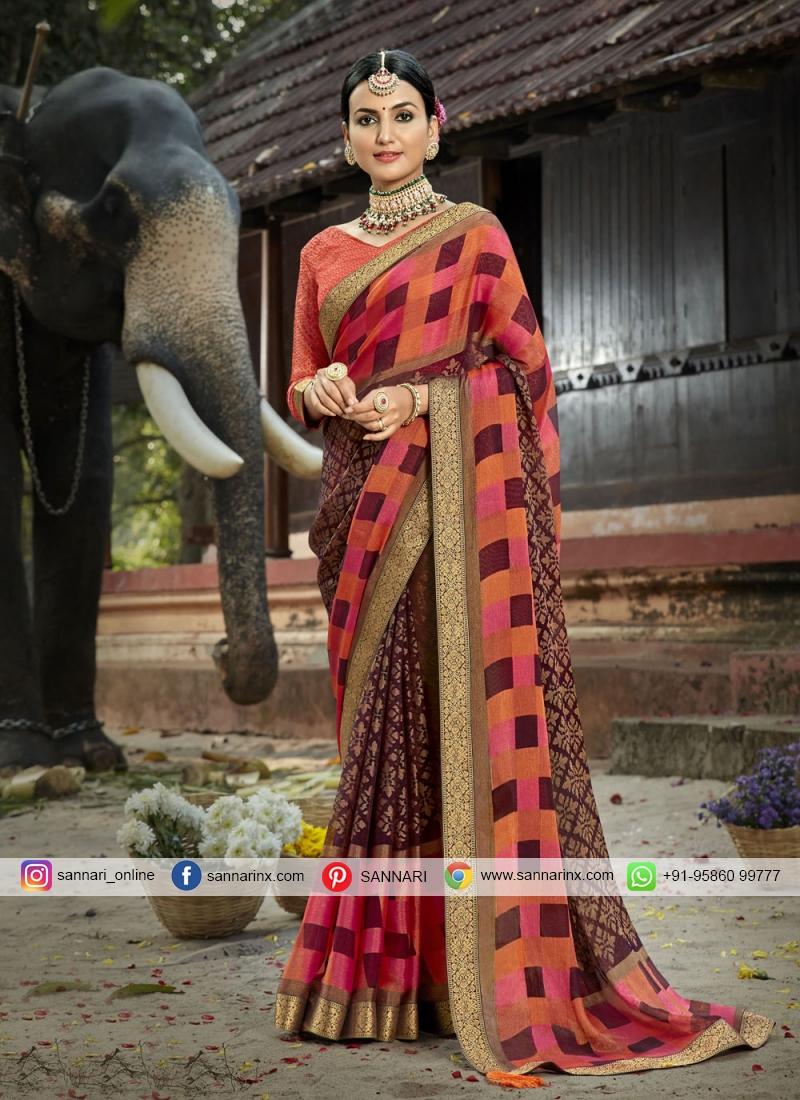 Lavish Multi Colour Printed Saree