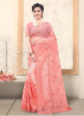 Lavish Net Rose Pink Traditional Saree