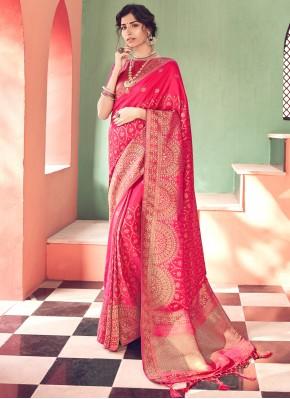 Lavish Pink Silk Saree