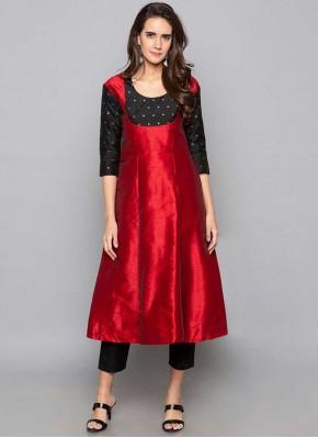 Lavish Red Festival Party Wear Kurti