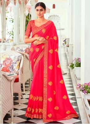 Lavish Thread Vichitra Silk Designer Traditional Saree
