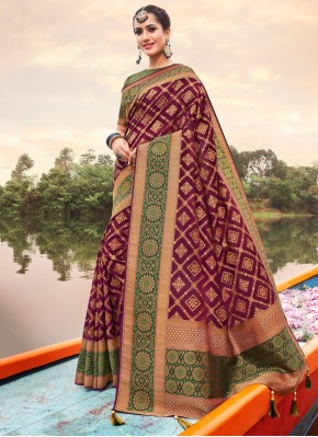 Lavish Violet Wedding Trendy Saree