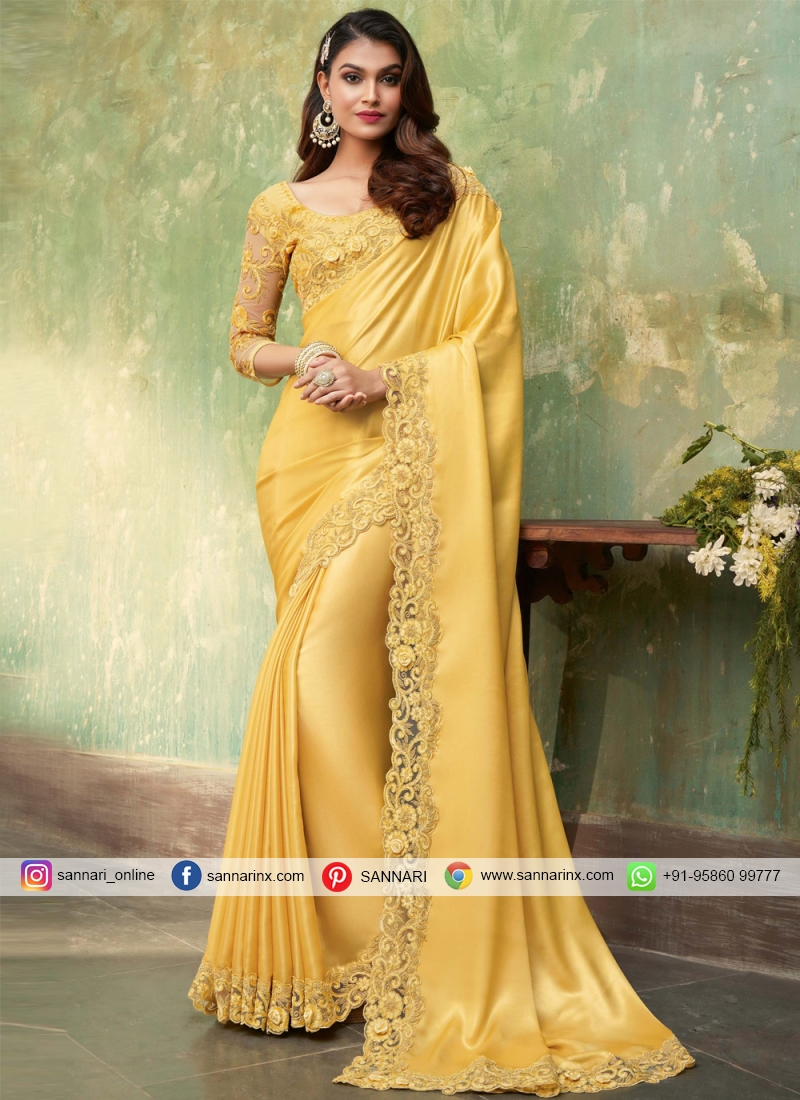 Lively Embroidered Festival Contemporary Saree