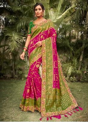 Lively Silk Resham Designer Saree