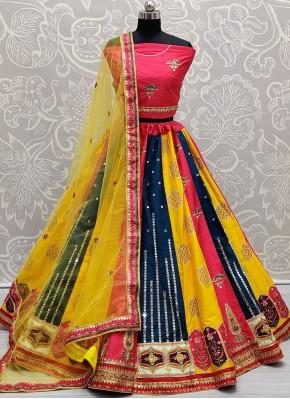 Lovely Multi Colour Mehndi Lehenga Choli