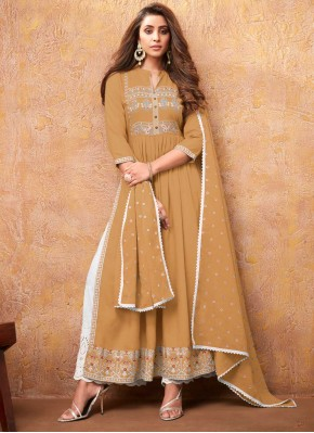Lovely Mustard Rayon Readymade Suit