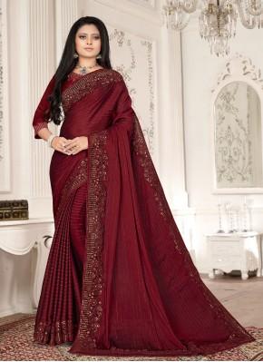 Magenta Ceremonial Designer Saree