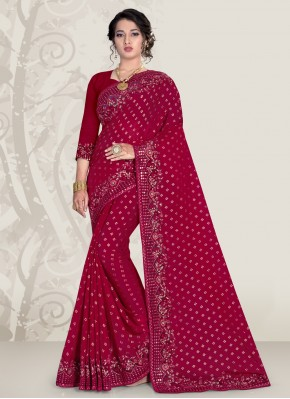 Magenta Ceremonial Designer Traditional Saree