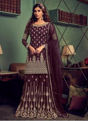 Magnetic Net Palazzo Designer Salwar Suit