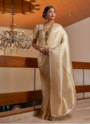 Magnetize Beige Traditional Saree