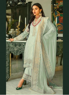 Magnetize Sea Green Sangeet Designer Pakistani Suit