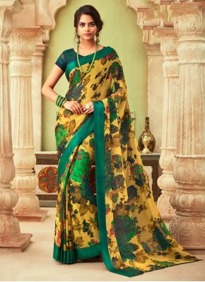 Magnificent Abstract Print Multi Colour Printed Saree