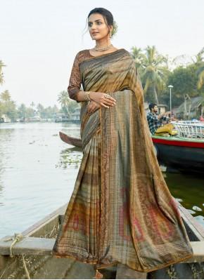 Magnificent Foil Print Printed Saree