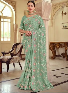Magnificent Green Wedding Trendy Saree