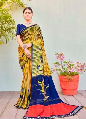Magnificent Multi Colour Printed Saree