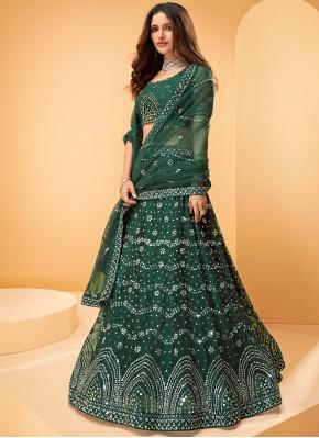 Majestic Net Embroidered Designer Lehenga Choli