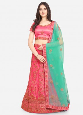 Majesty Resham Net Pink Lehenga Choli