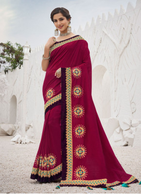 Maroon Ceremonial Trendy Saree