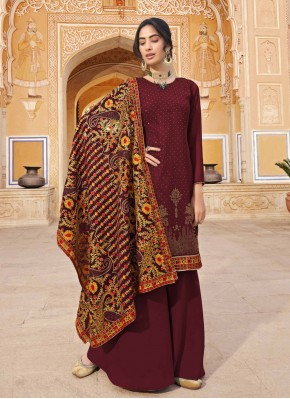 Maroon Color Designer Pakistani Salwar Suit
