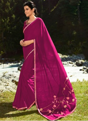 Maroon Party Silk Classic Saree