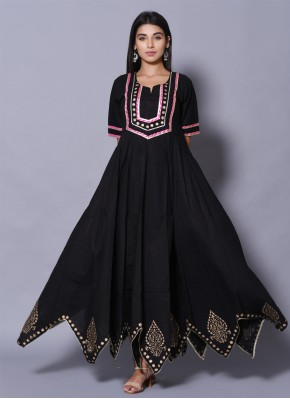 Masterly Block Print Cotton Designer Gown