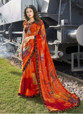 Masterly Faux Georgette Casual Casual Saree