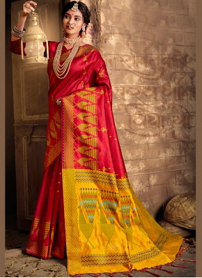 Masterly Silk Red Bollywood Saree
