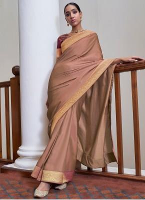 Mauve  Art Silk Traditional Saree