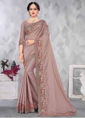 Mauve  Sequins Designer Saree
