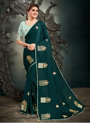 Mesmeric Embroidered Sangeet Designer Saree