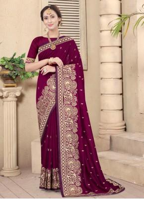 Mesmeric Embroidered Silk Designer Traditional Saree