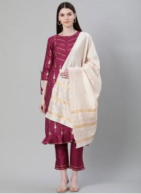 Mesmeric Poly Silk Print Bollywood Salwar Kameez