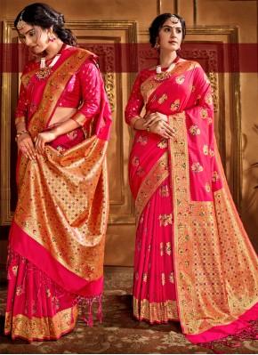 Mesmerizing Weaving Silk Contemporary Saree