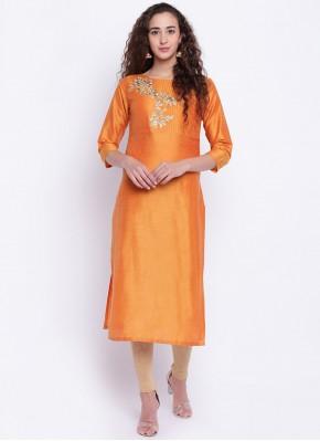 Miraculous Cotton Silk Fancy Party Wear Kurti