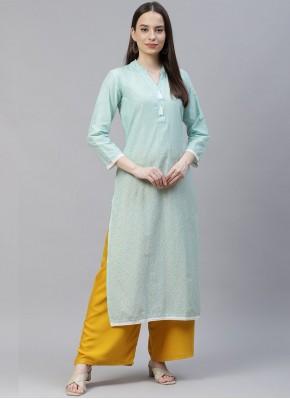 Miraculous Print Cotton Designer Kurti