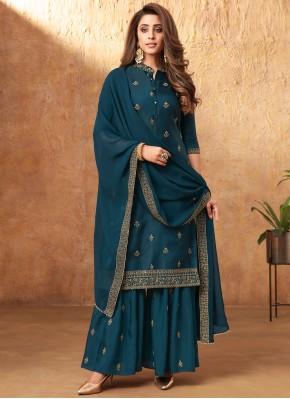 Modern Morpeach  Embroidered Designer Pakistani Salwar Suit